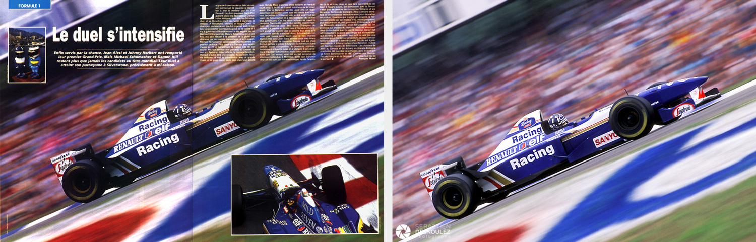 <strong>Motorsport<span><br /><small><figcaption>Publication presse dans le magazine Speed et photo originale - GP Allemagne F1 1995 - Damon Hill (GBR) / Williams-Renault - Photo : © Sebastien Desnoulez</figcaption><small><br /><b>voir en plein écran</b></span></strong><i>→</i>