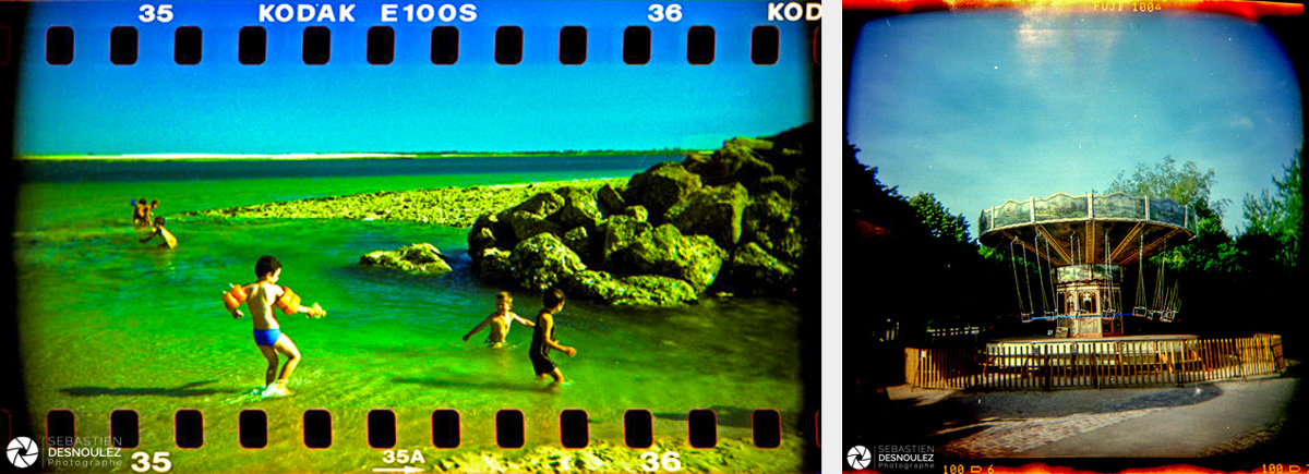<strong>Lo-Fi Photography<span><br /><small><figcaption>Attaque - Banc du Bûcheron, île de Ré et Manège - Parc de la Villette - Photos : © Sebastien Desnoulez</figcaption><small><br /><b>voir en plein écran</b></span></strong><i>→</i>