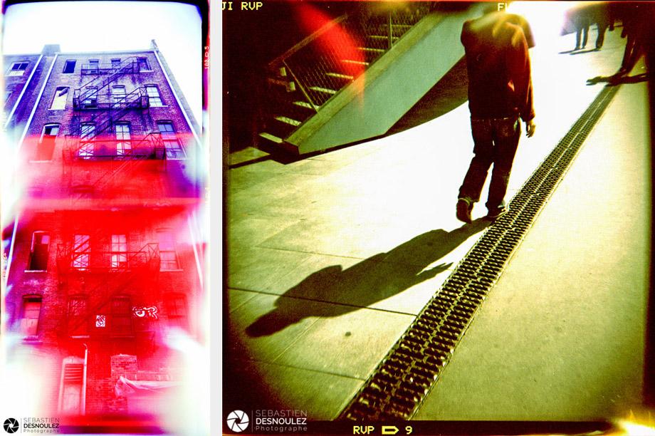 <strong>Lo-Fi Photography<span><br /><small><figcaption>Stairway to Heaven, Indianapolis 2004 et Homme sans tête, Palais des Congrès, Paris 2004 - Photos au Holga et film parSebastien Desnoulez Photographe</figcaption><small><br /><b>voir en plein écran</b></span></strong><i>→</i>