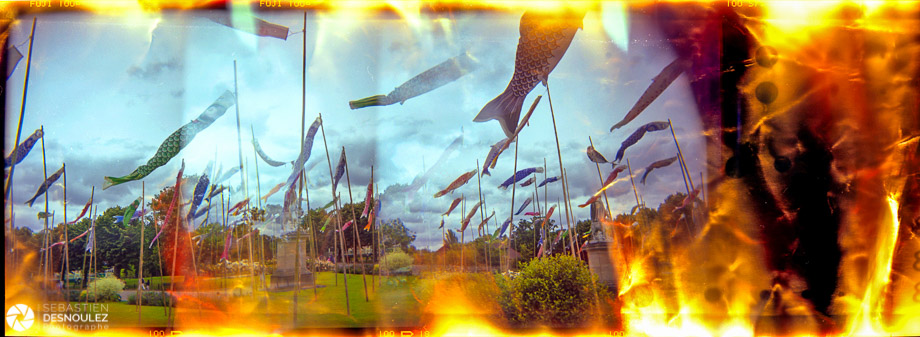 <strong>Lo-Fi Photography<span><br /><small><figcaption>Surimpression de manches à air photographiées au Holga sur film Fuji - Jardin d Acclimatation Paris - 2005 - Photo : © Sebastien Desnoulez</figcaption><small><br /><b>voir en plein écran</b></span></strong><i>&rarr;</i>