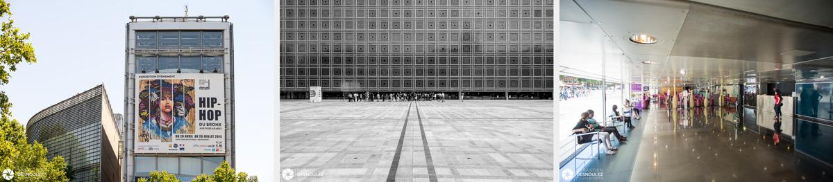 <strong>Institut du Monde Arabe<span><br /><small><figcaption>Ambiances architecture - Institut du Monde Arabe – Paris – Photos : © Sebastien Desnoulez photographe</figcaption><small><br /><b>voir en plein écran</b></span></strong><i>→</i>