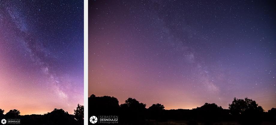 <strong>Ambiances<span><br /><small><figcaption>Photos de la Voie lactée à l ouest de Montpellier ©Sebastien Desnoulez</figcaption><small><br /><b>voir en plein écran</b></span></strong><i>→</i>