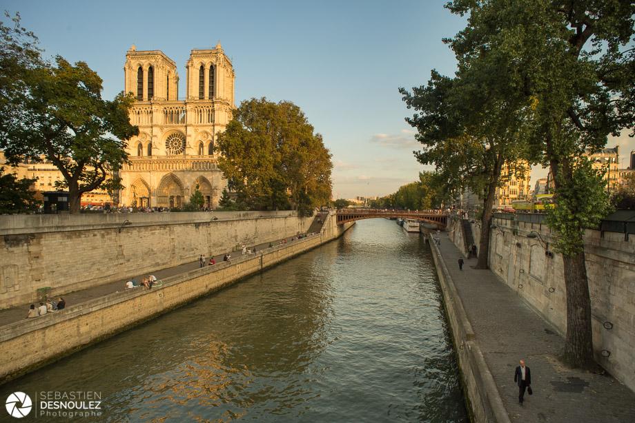 <strong>La Seine à Paris<span><br /><small><figcaption>La Seine, les quais et Notre Dame de Paris - Photo : ©Sebastien Desnoulez</figcaption><small><br /><b>voir en plein écran</b></span></strong><i>&rarr;</i>