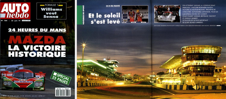 <strong>Motorsport<span><br /><small><figcaption>Reportage presse magazine - 24 Heures du Mans 1991 - couverture et double page du magazine Auto Hebdo - Photos : ©Sebastien Desnoulez</figcaption><small><br /><b>voir en plein écran</b></span></strong><i>&rarr;</i>