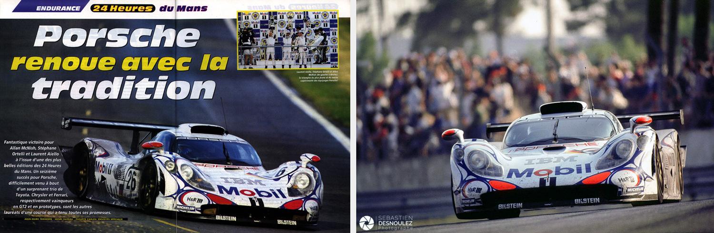 <strong>Motorsport<span><br /><small><figcaption>Reportage presse spécialisée magazine - 24 Heures du Mans 1998 - double page du magazine Auto Hebdo et Aiello - Ortelli - Mc Nish vainqueurs sur Porsche 911 GTR - Photos : ©Sebastien Desnoulez</figcaption><small><br /><b>voir en plein écran</b></span></strong><i>&rarr;</i>