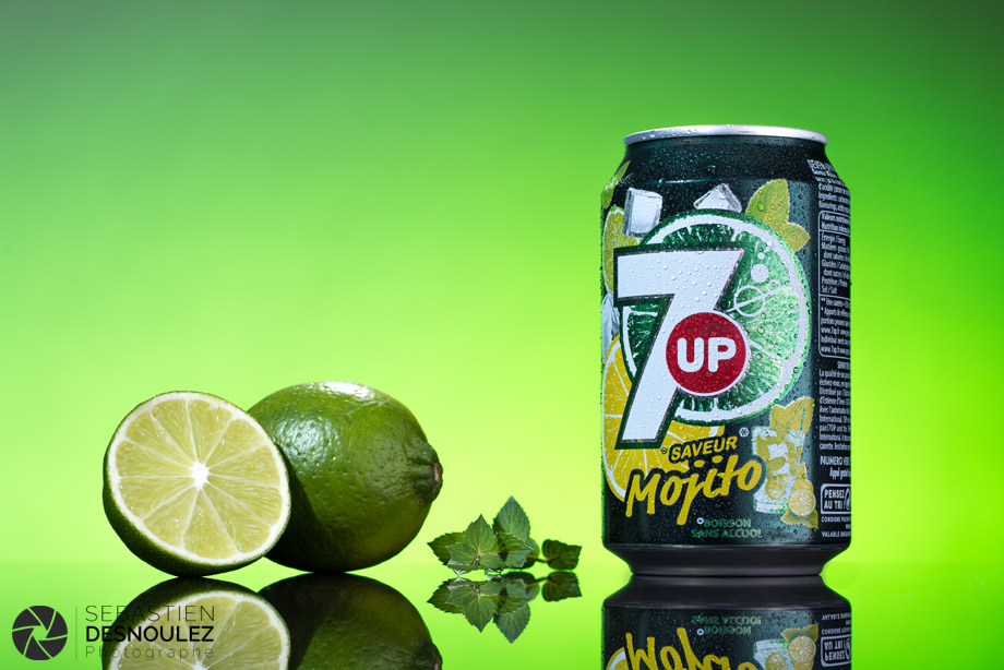 <strong>Photographe packshot Paris<span><br /><small><figcaption>Packshot studio canette de soda - 7UP Mojito - Photo : © Sebastien Desnoulez</figcaption><small><br /><b>voir en plein écran</b></span></strong><i>&rarr;</i>