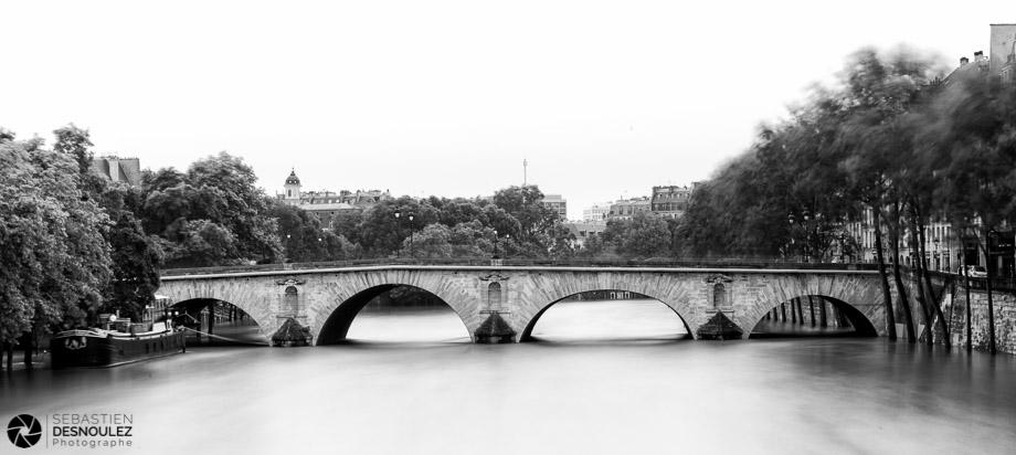 <strong>La Seine à Paris<span><br /><small><figcaption>La Seine sort de son lit au Pont Marie à Paris, juin 2016 - Photo : © Sebastien Desnoulez</figcaption><small><br /><b>voir en plein écran</b></span></strong><i>&rarr;</i>