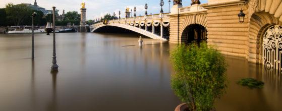 La Seine en crue au Pont Alexandre III, juin 2016 - Photo : © Sebastien Desnoulez