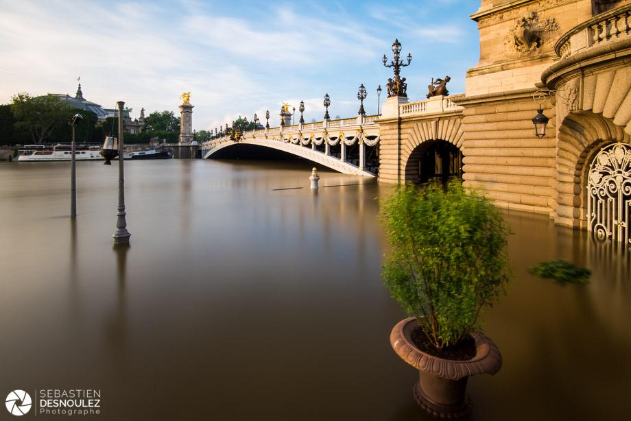 Photos de la crue de la Seine dans Paris