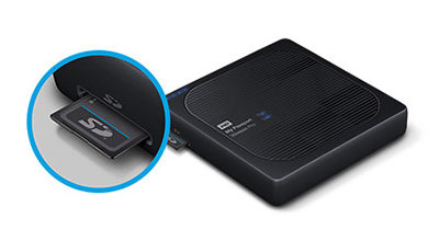 Western Digital My Passport Wireless Pro - disque dur Wifi déchargeur de SD Card