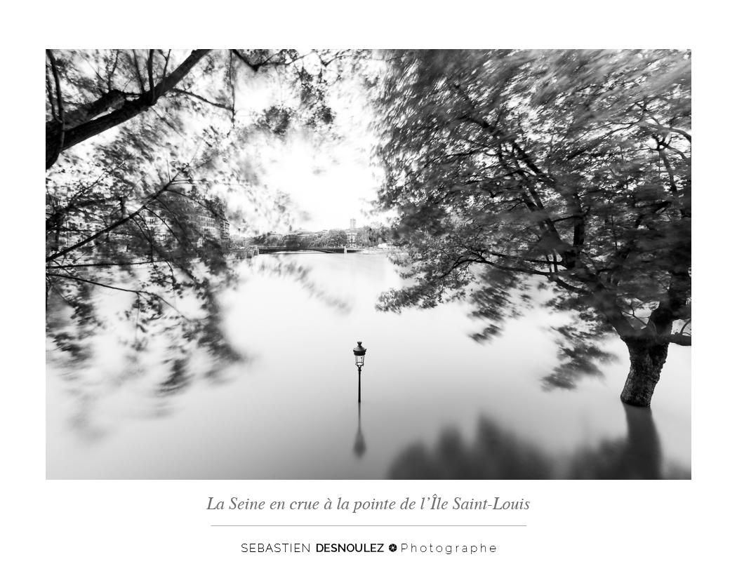 <strong>Galerie Photo Noir et Blanc<span><br /><small><figcaption>La Seine en crue, Ile Saint Louis, Paris, juin 2016 - Photo : © Sebastien Desnoulez</figcaption><small><br /><b>voir en plein écran</b></span></strong><i>→</i>
