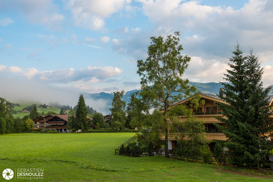 Shooting d'un hôtel de luxe à Gstaad