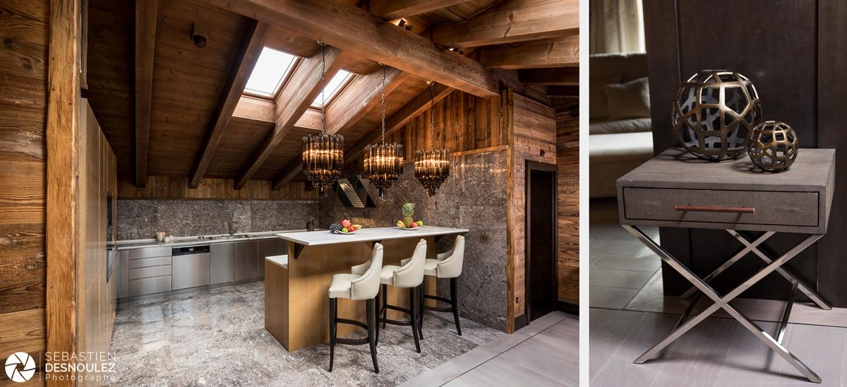 <strong>Shooting architecture et décoration d'intérieur hôtel de luxe à Gstaad<span><br /><small><figcaption>Coin cuisine et mobilier suite hôtel de luxe à Gstaad - photo : © Sebastien Desnoulez</figcaption><small><br /><b>voir en plein écran</b></span></strong><i>→</i>