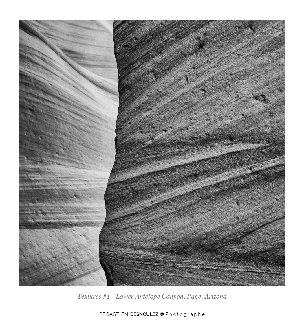 <strong>Lower Antelope Canyon textures<span><br /><small><figcaption>#1 sandstone texture of the Lower Antelope Canyon in Page, Arizona - Photo : © Sebastien Desnoulez</figcaption><small><br /><b>voir en plein écran</b></span></strong><i>&rarr;</i>
