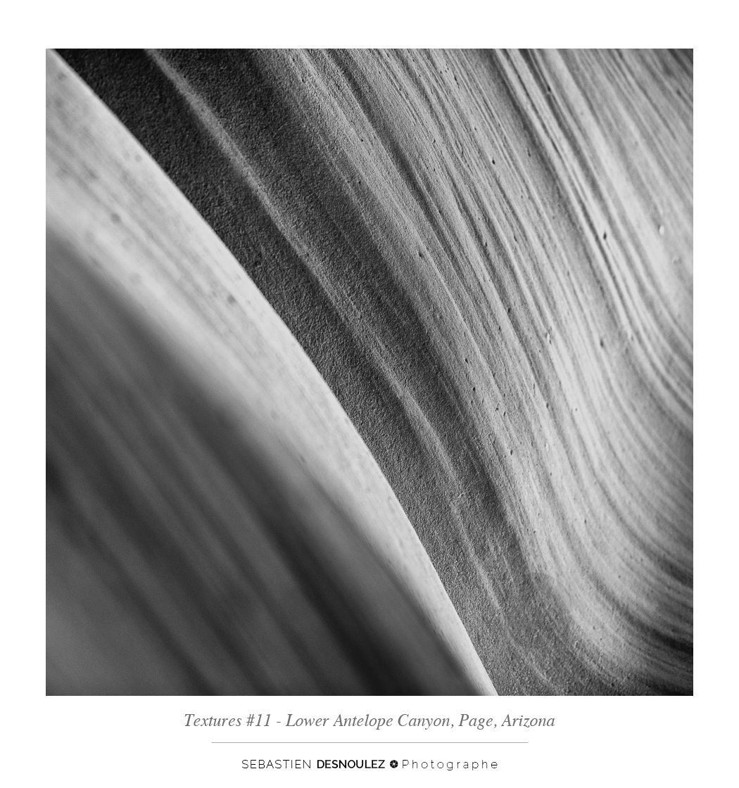 <strong>Lower Antelope Canyon textures<span><br /><small><figcaption>#11 sandstone texture of the Lower Antelope Canyon in Page, Arizona - Photo : © Sebastien Desnoulez</figcaption><small><br /><b>voir en plein écran</b></span></strong><i>&rarr;</i>