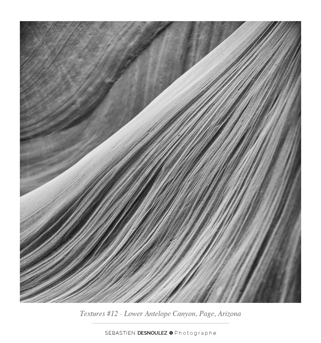 <strong>Lower Antelope Canyon textures<span><br /><small><figcaption>#12 sandstone texture of the Lower Antelope Canyon in Page, Arizona - Photo : © Sebastien Desnoulez</figcaption><small><br /><b>voir en plein écran</b></span></strong><i>&rarr;</i>