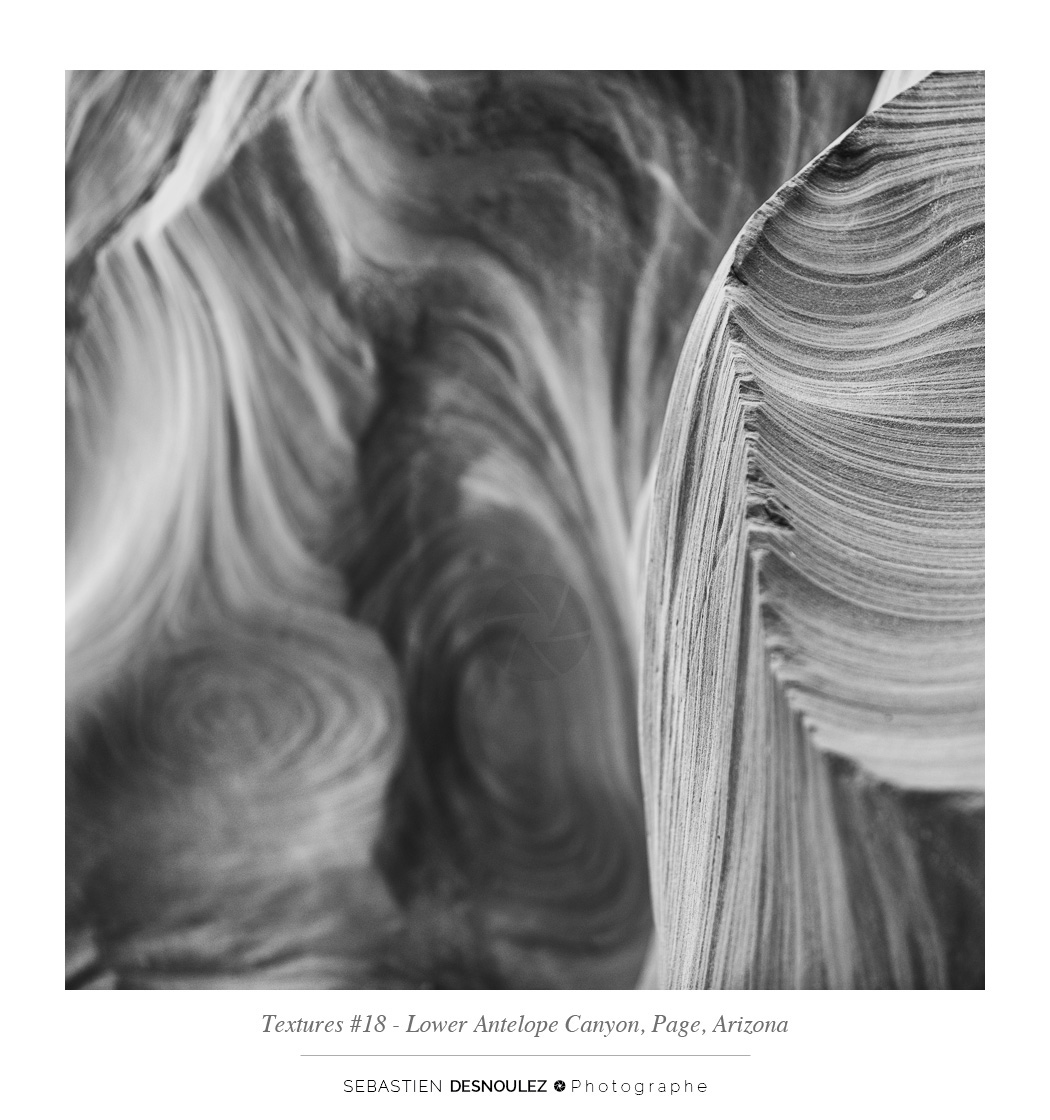 <strong>Lower Antelope Canyon textures<span><br /><small><figcaption>#18 sandstone texture of the Lower Antelope Canyon in Page, Arizona - Photo : © Sebastien Desnoulez</figcaption><small><br /><b>voir en plein écran</b></span></strong><i>&rarr;</i>