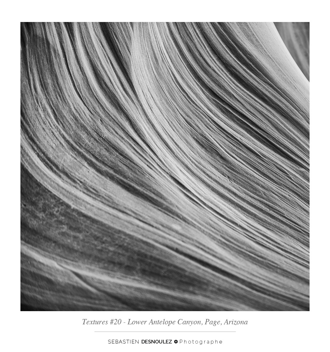 <strong>Lower Antelope Canyon textures<span><br /><small><figcaption>#20 sandstone texture of the Lower Antelope Canyon in Page, Arizona - Photo : © Sebastien Desnoulez</figcaption><small><br /><b>voir en plein écran</b></span></strong><i>&rarr;</i>