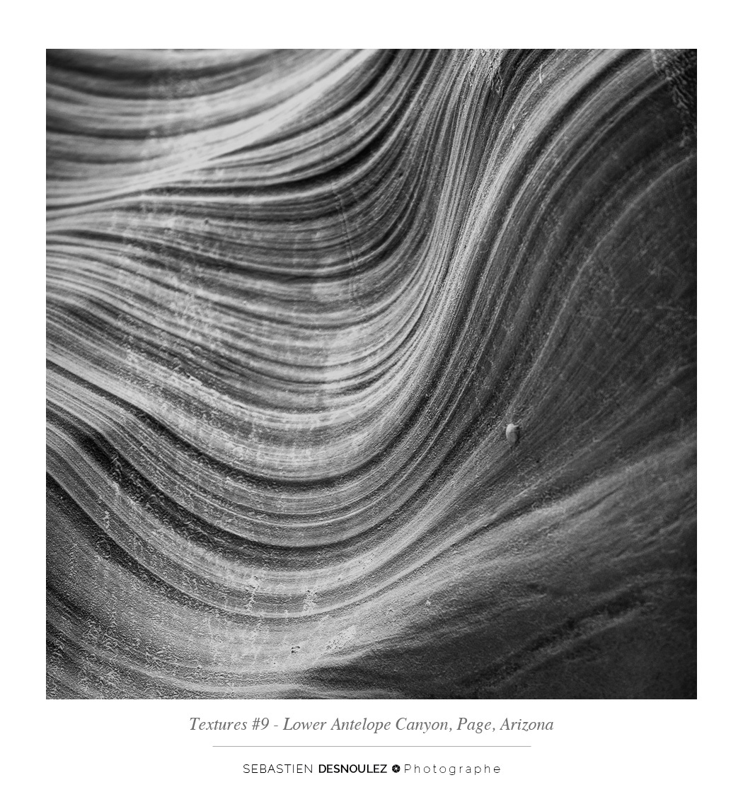 <strong>Lower Antelope Canyon textures<span><br /><small><figcaption>#9 sandstone texture of the Lower Antelope Canyon in Page, Arizona - Photo : © Sebastien Desnoulez</figcaption><small><br /><b>voir en plein écran</b></span></strong><i>&rarr;</i>