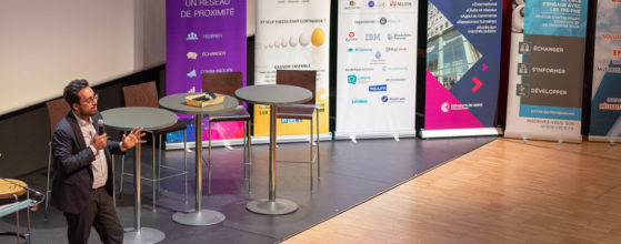 Reportage événementiel Mounir Mahjoubi au meet up 92 des clubs d'entrepreneurs sur la blockchain - Photo : © Sebastien Desnoulez Photographe