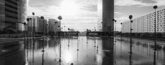Bassin Takis de La Défense après le confinement - Photo : © Sebastien Desnoulez photographe d'ambiances et d'architecture