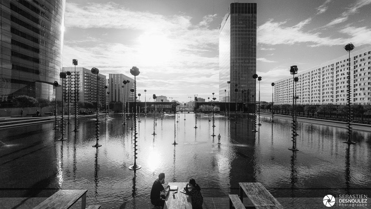 Bassin Takis de La Défense après le confinement