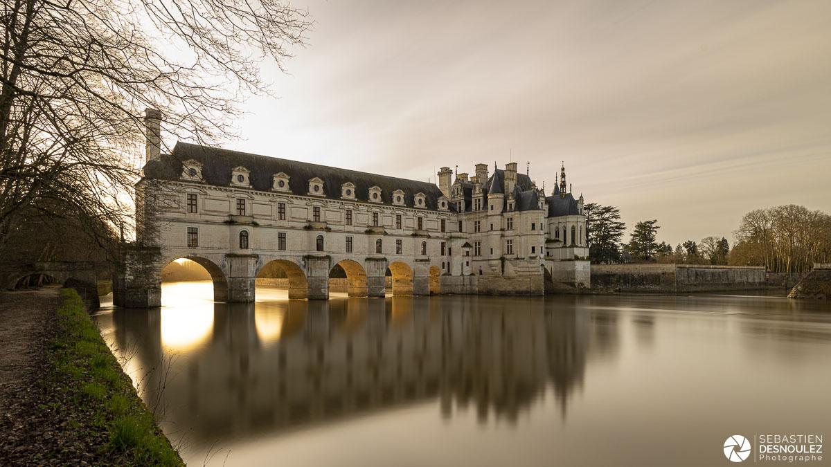 Château de Chenonceau au coucher du soleil