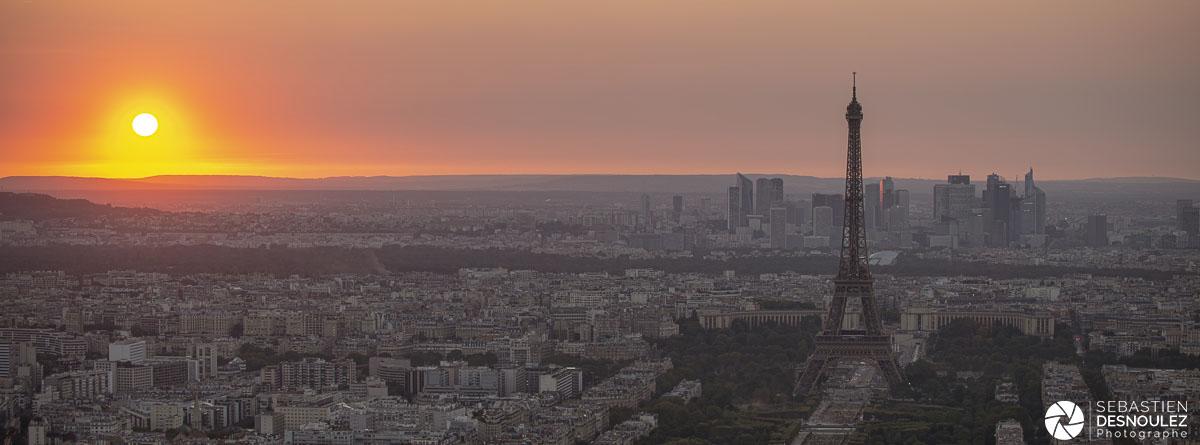 Couchers de soleil sur les toits de Paris