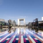 Fontaine Monumentale d'Agam et la Grande Arche de La Défense - Photo : © Sebastien Desnoulez photographe d'ambiances et d'architecture