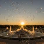 Fontaines du château de Versailles au soleil couchant - Photo : © Sebastien Desnoulez photographe d'ambiances et d'architecture