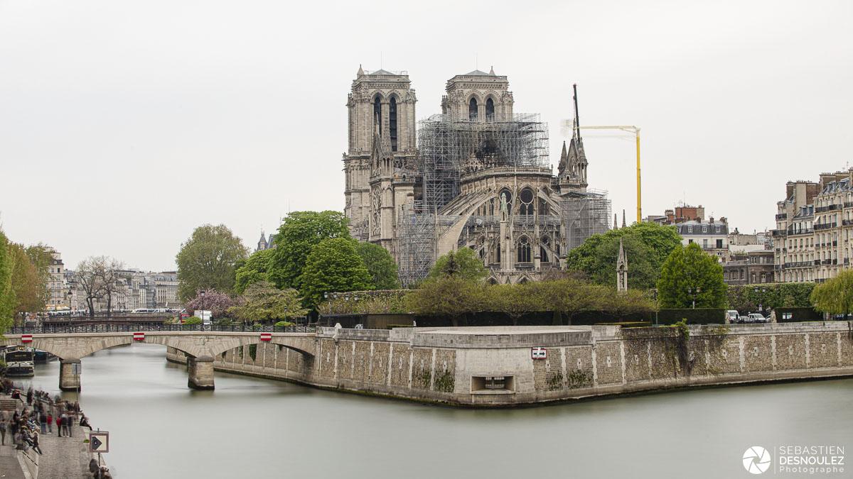Notre-Dame de Paris le lendemain de l'incendie