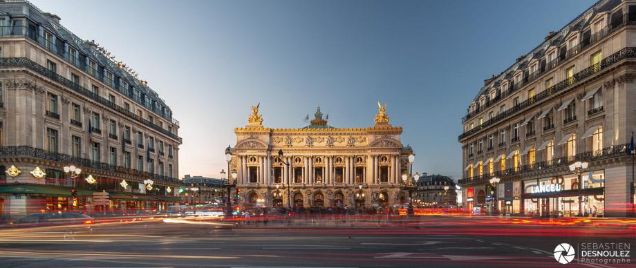 Opéra Garnier Paris à la tombée de la nuit