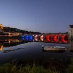 Donjon et pont de Montrichard illuminés - Photo : Sebastien Desnoulez photographe d'ambiances et de paysage